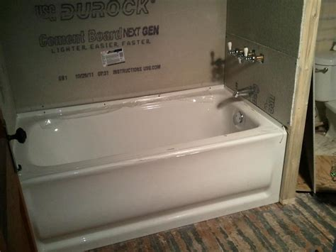 how to install a bathtub does tile backer board