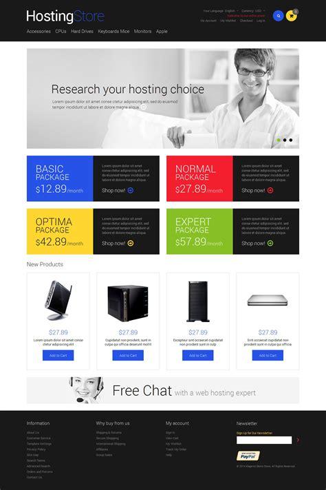 hosting responsive magento theme 49059