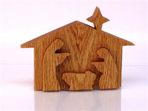pattern for wood nativity scene 3d wood nativity scene handmade with scroll saw by