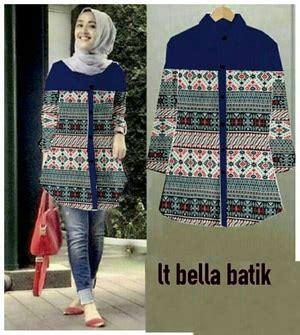 Sale 61123 Flowie Tunic Baju Tunik Murah Atasan Muslim Wanita Murah model baju atasan wanita lengan panjang motif batik modis