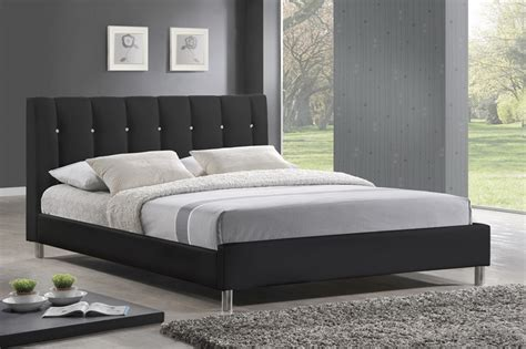 headboard modern baxton studio vino black modern bed with upholstered