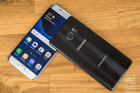 samsung edge 7 samsung galaxy note 7 vs samsung galaxy s7 edge phonearena