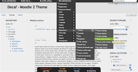 moodle theme engine moodle in english decaf moodle 2 theme