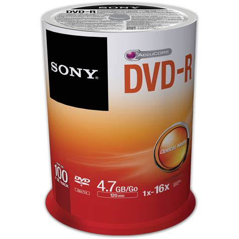 Dvdr Sony sony recordable storage dvd r pack of 100 100dmr47sp us b h