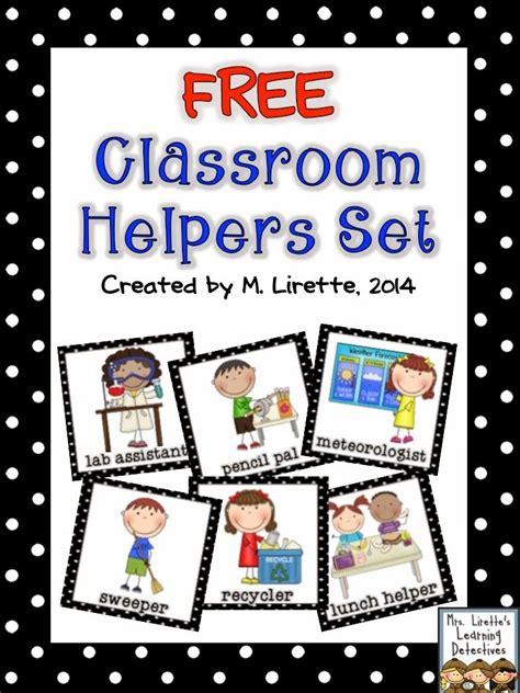 printable job cards for classroom classroom helpers set free kinderland collaborative