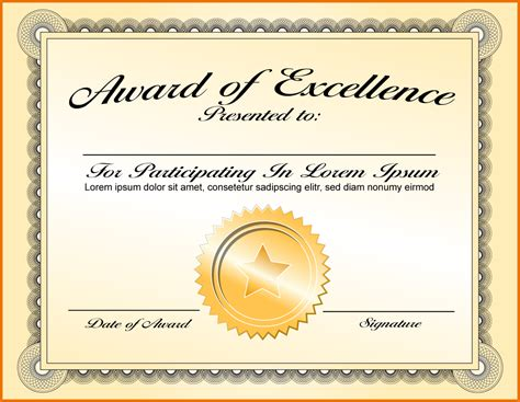 hollywood award certificate template images certificate