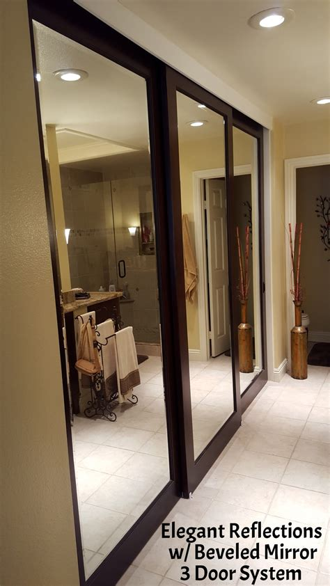 mirrored closet doors interior doors  closets
