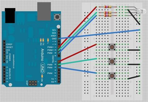 code arduino led rgb breadboard layout arduino lesson 7 make an rgb led