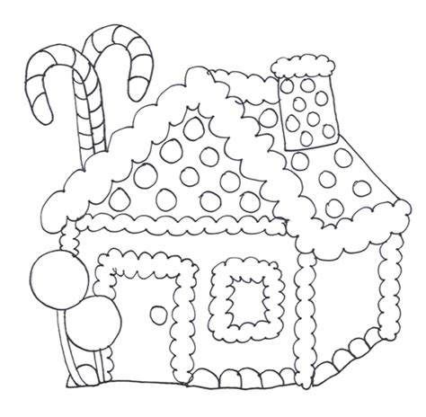 Coloring Pages Christmas Gingerbread House Free Gingerbread Coloring Pages