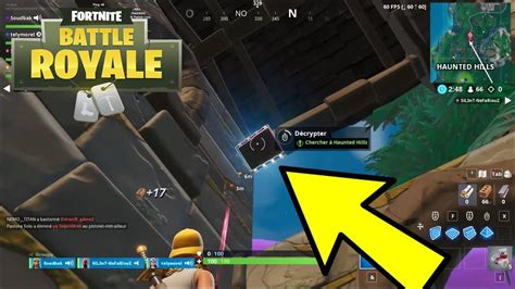 puce de decryptage  chercher  haunted hills fortnite