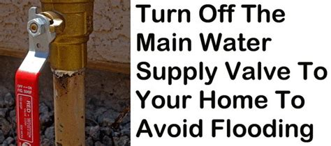 turn water off to house things to turn off when leaving your home for extended