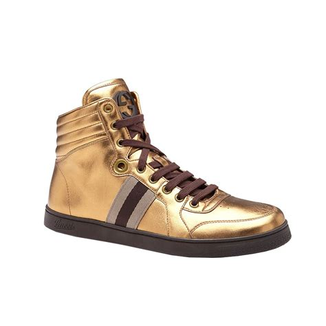 gold sneakers mens gucci mens shoes metallic gold sneakers ggm2101