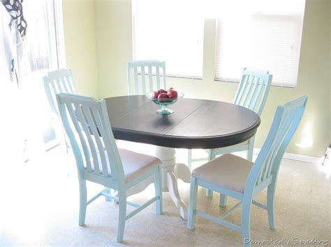 Painted Kitchen Tables And Chairs Kitchen Nook Domestically Speaking