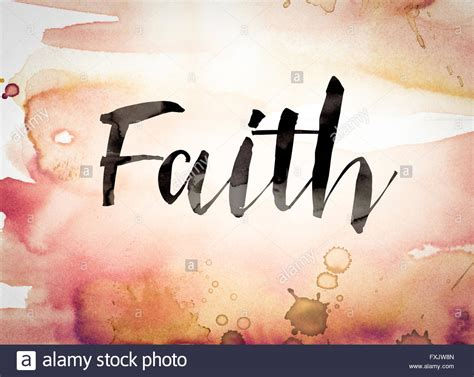 another word for colorful the word quot faith quot written in black paint on a colorful