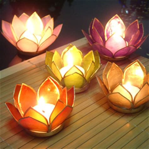 capiz lotus candle holder destination wedding favors