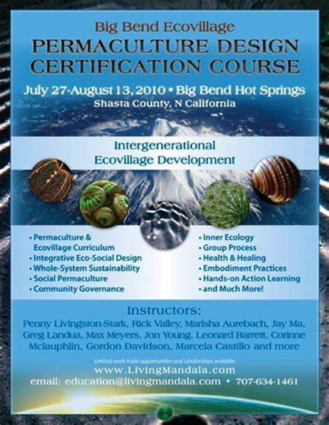 permaculture design certificate nz big bend ecovillage permaculture design course pdc 2010