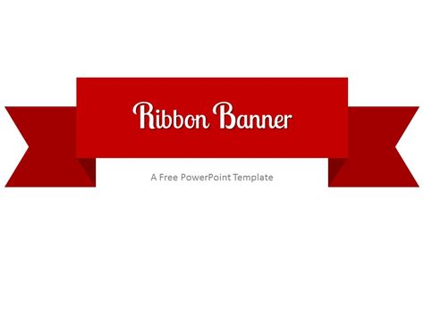 Ribbon Template by Ribbon Banner Powerpoint Template