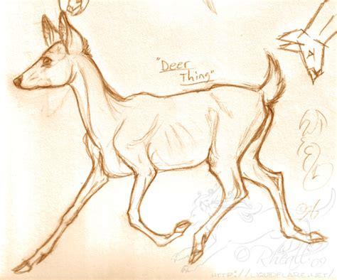 horse pencil lines