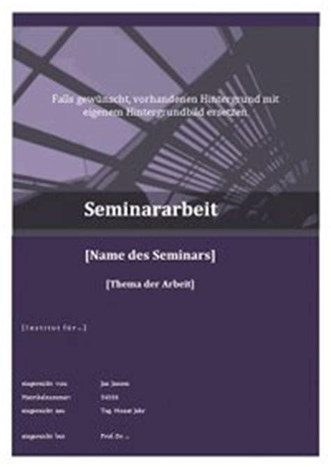 layout seminararbeit bayern das deckblatt einer seminararbeit