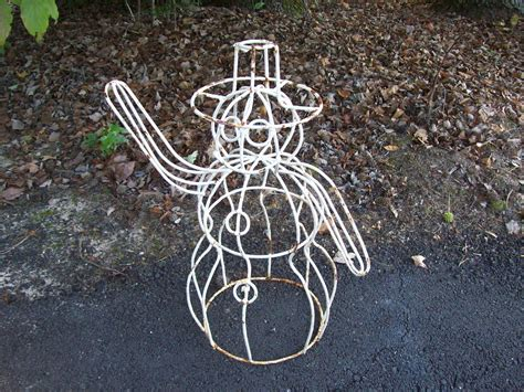 Iron Garden Decor Metal Rustic Garden Decor Photograph Wrought Iron Snowman