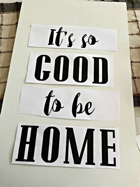 diy home decor signs it s so good to be home diy art thrifty decor chick