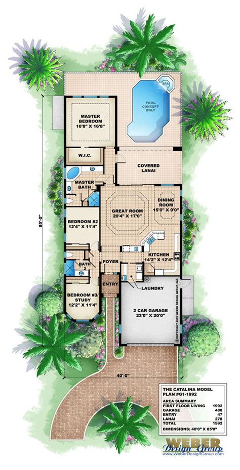 Mediterranean Small House Plans by Mediterranean House Plan Narrow Lot Mediterranean Home