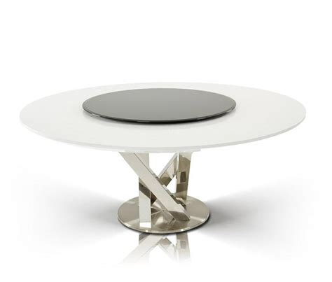 DreamFurniture.com   Modern Round White Dining Table with