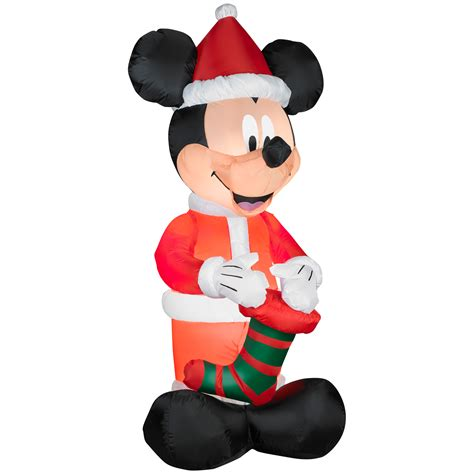 mickey mouse santa airblown christmas decoration shop