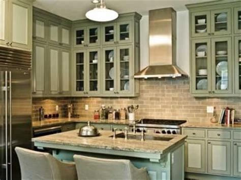 Kitchen Colors With Green Countertops by Cool Gray Granite Countertops Complement This Green
