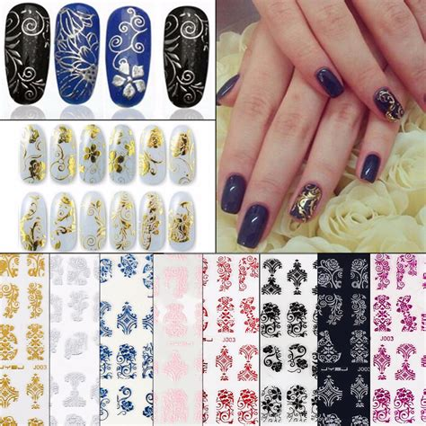Nail Sticker Stiker Kuku Nail 3 108pcs sheet nail sticker 3d design nail decorations nail decal manicure stickers nail