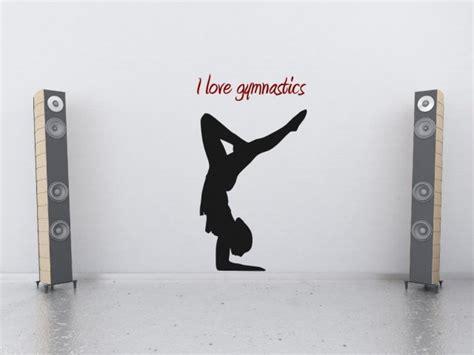 Gymnastics Wall Stickers i love gymnastics wall sticker version 1 wall stickers