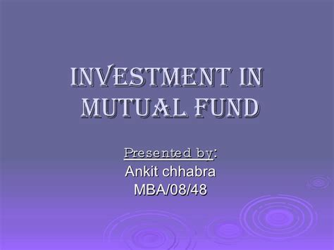 Mba Investment Fund by 22471070 Fund Ppt 1
