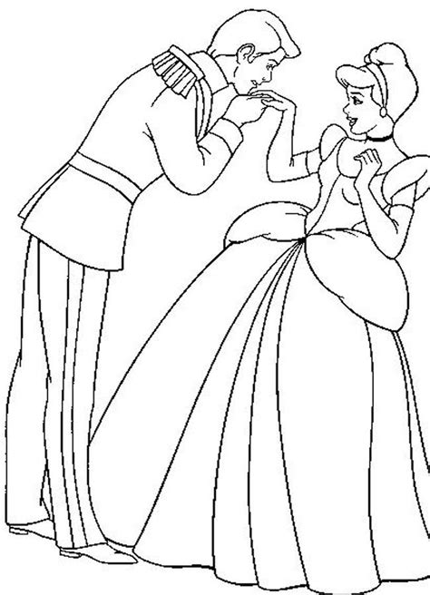 free coloring pages of drawings of cinderella