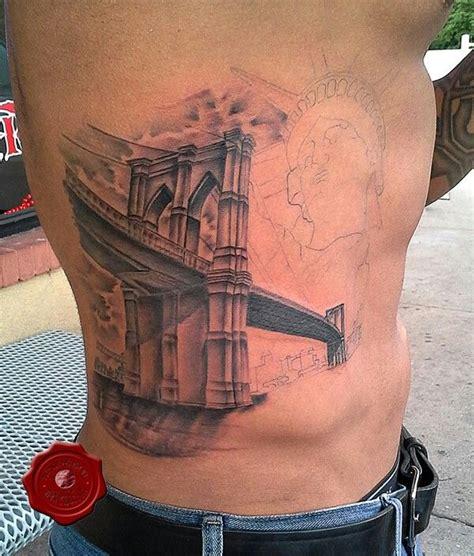 brooklyn bridge tattoo bridge in progress by don