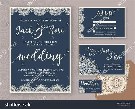 rustic wedding invitation design template include stock