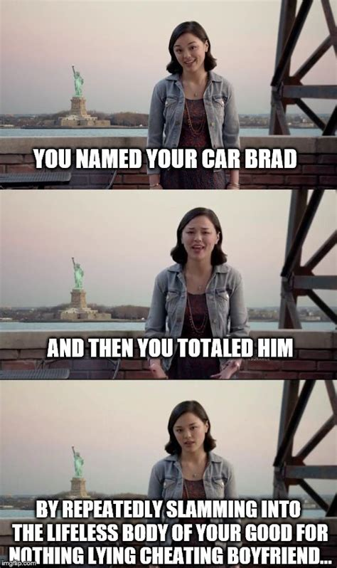 you named it brad girl car named brad commercial name of actors in liberty