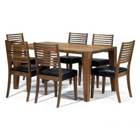 walnut dining table set opus solid walnut 6 seater dining set 5459 furniture in