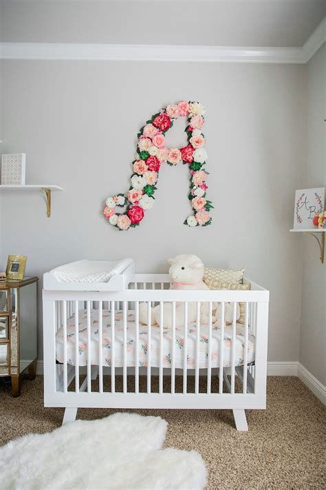 baby girl nursery  floral wall shop rent consign