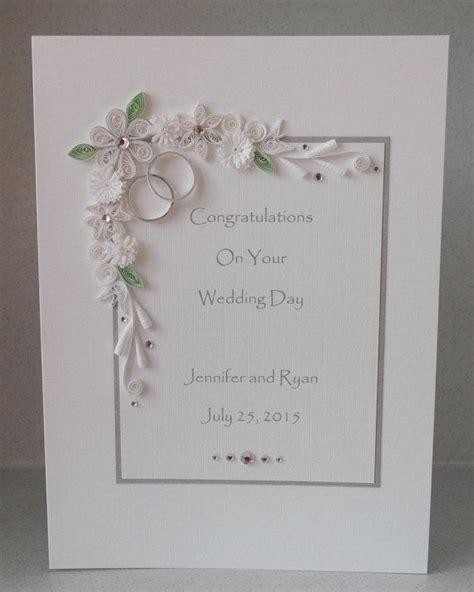 Handmade Paper Wedding Cards - wedding congratulations card personalized handmade