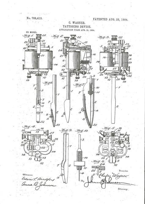 tattoo machine mechanics 1904 charles wagner new york tattoo machine history