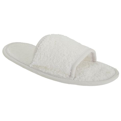 towel slippers towel city classic mens womens indoor house terry open