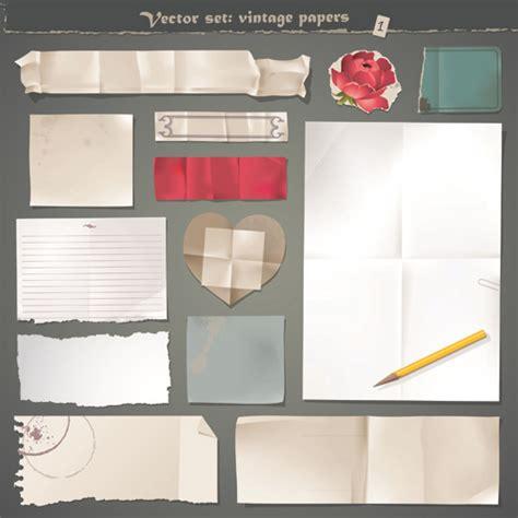 paper design elements 25 vector vector old paper design elements set free vector in
