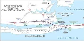 okaloosa island florida map okaloosa island okaloosa island boardwalk