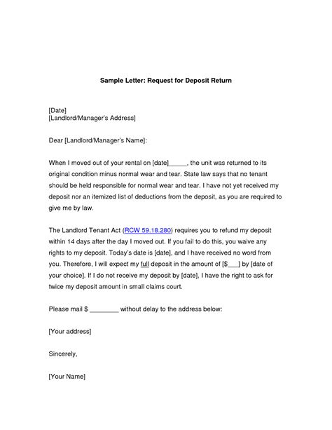 Insurance Refund Letter Template request for refund letter format letter format 2017