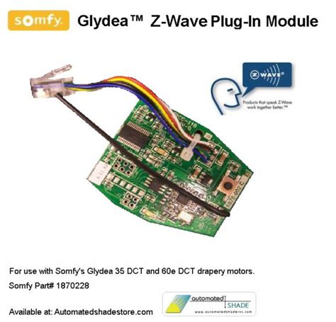 Automated Shade Store Somfy Glydea Zwaveplug In Control