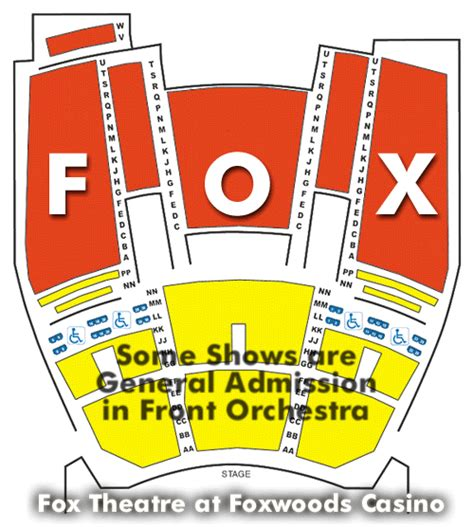 Fox Theater Gift Cards - fox theater at foxwoods seating chart ticket solutions