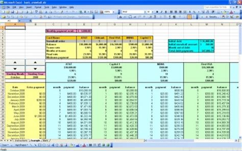 credit card debt template excel excel templates excel spreadsheets