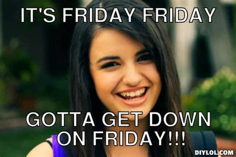 Friday Song Meme - gotta get down on friday the kay times