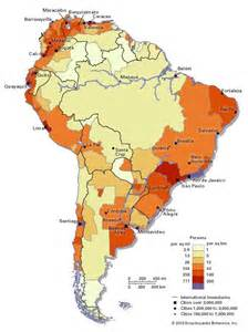 population map of south america population density and distribution latinamerica