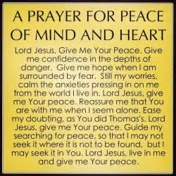 a prayer for peace of mind and quotes